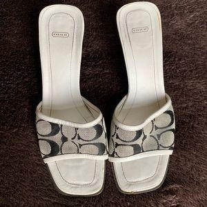 Coach 'Gwyneth' Heeled Sandals/Mules